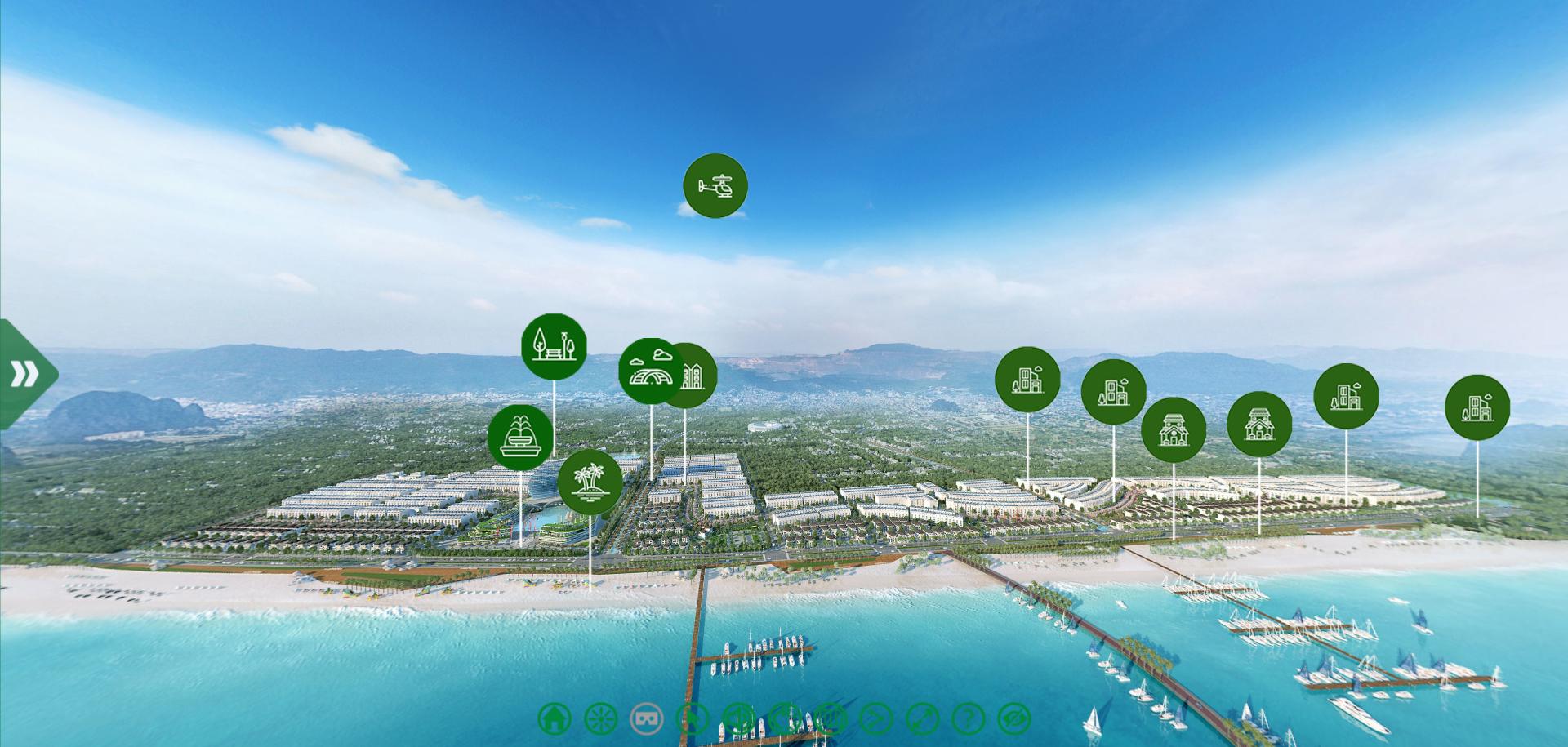 360vr Toàn cảnh dự án Green Dragon City Cẩm Phả - Tập đoàn TTP