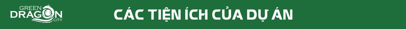 Các tiện ích của dự án Green Dragon City Cẩm Phả - Tập đoàn TTP