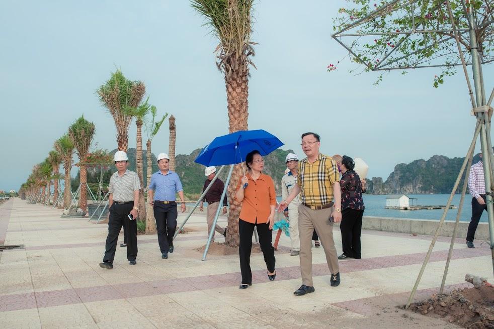 Nguyên Phó Chủ tịch nước Nguyễn Thị Doan tham quan tại dự án Khu đô thị - du lịch – dịch vụ cao cấp Green Dragon City Cẩm Phả.