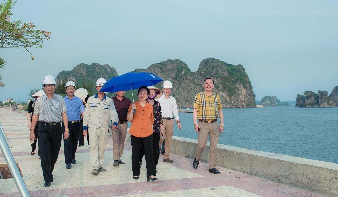 Nguyên Phó Chủ tịch nước Nguyễn Thị Doan tham quan tại dự án Khu đô thị - du lịch – dịch vụ cao cấp Green Dragon City Cẩm Phả .